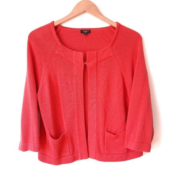 Talbots Sweaters - Talbots Orange Open Cardigan Sweater